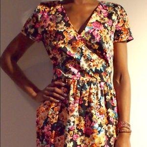 Corey Lynn Calter Floral Dress Fit&Flare Short 4 S